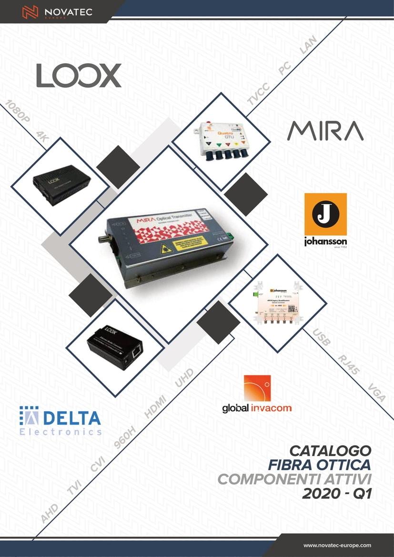Fibra ottica Componenti attivi - Catalogo Blu Cover